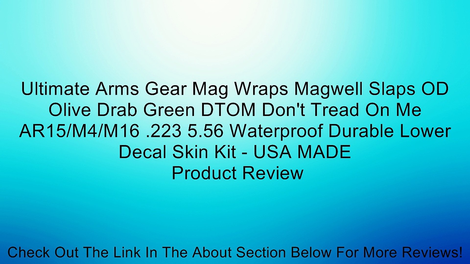 Ultimate Arms Gear Mag Wraps Magwell Slaps OD Olive Drab Green DTOM Don't Tread On Me AR15/M4/M