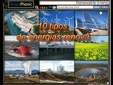 Os 10 principais tipos de energia renovável. eólica, solar,  das ondas, das marés, hidroelétrica