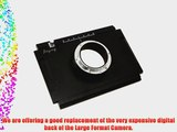 4 x 5 Large Format Moveable Adapter Plate for Canon EOS 1D 1Ds 1D Mark II 1Ds Mark II 1D Mark