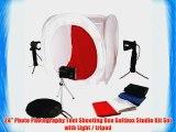 24 Photo Photography Tent Shooting Box Softbox Studio Kit Set with Light / tripod