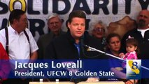 President Loveall Speaks at Rally of Union Members Supporting Raleys Workers