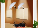 ePhoto 800 Watt Photography Studio Umbrella Cool Fluorescent Continuous Lighting Kit Set- 2