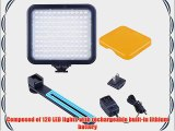 Bestlight? 120PCS LED 7.2W Energy-Saving 5600K Color Temperature LED Video Light with Rechargeable
