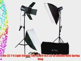 CowboyStudio 320 Watt Two Monolight Photo Studio Strobe Flash Lighting Softbox Kit With Barndoor