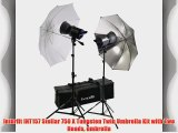Interfit INT157 Stellar 750 X Tungsten Twin Umbrella Kit with Two Heads umbrella