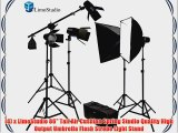 LimoStudio Photography Studio Continuous Lighting Kit 2450W Barndoor Lights and Photo Video