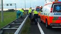 Ongeval A8 aanhouding/arrestatie