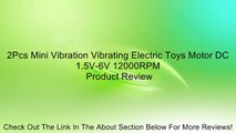 2Pcs Mini Vibration Vibrating Electric Toys Motor DC 1.5V-6V 12000RPM Review