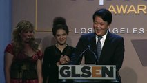 Cliff Tang Accepts Student Advocate of the Year Award   2014 GLSEN Respect Awards - Los Angeles