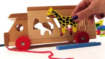 Kid's BRIO Toys - ZOO TRUCK JIGSAW: Learn Wild Animals PUZZLE! Learn to Count Games for Children