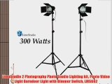 LimoStudio 2 Photography Photo Studio Lighting kit Photo Video Light Barndoor Light with Dimmer