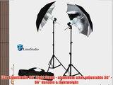 LimoStudio 6500K Day Light 400 Watt Photography 33 Silver Reflector Umbrella Continuous Photo