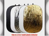 28 x 44 (71x112cm) 5 in 1 Portable Oval Collapsible Multi Disc Photography Studio Light Reflector