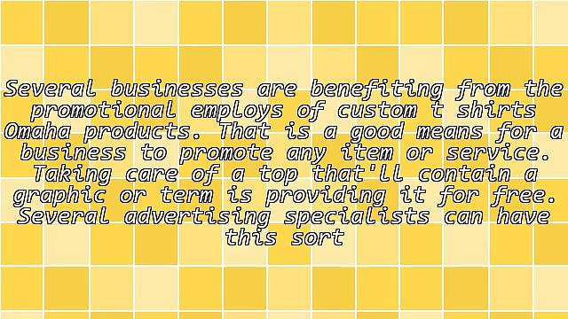 The Benefits Of Custom T Shirts Omaha
