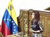Cristina Fernandez:  Discurso ante la AN por Bicentenario de Venezuela ( 1/4 )
