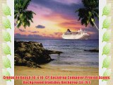 Cruise On Beach 10' x 10' CP Backdrop Computer Printed Scenic Background GladsBuy Backdrop