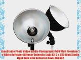 LimoStudio Photo Video Studio Photography 500 Watt Premium 2 x White Reflector Diffuser Umbrella