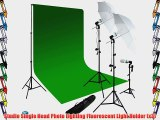 LimoStudio 600 Watt Photog Video Chroma Key Lighting Kit   10' x 10' DOUBLE Green Chroma Key