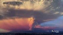 للمرة الأولى منذ أكثر من 40 عاما، هيجان بركان على منطقة جبلية في جنوب تشيلي
