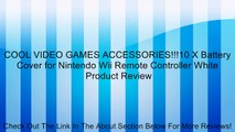 COOL VIDEO GAMES ACCESSORIES!!!10 X Battery Cover for Nintendo Wii Remote Controller White Review