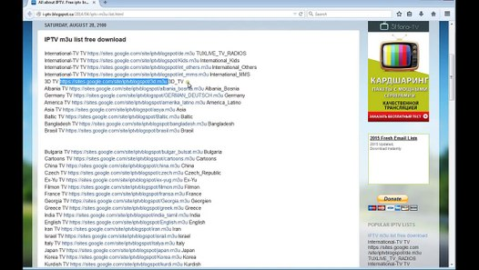Live TV in XBMC Setup m3u channel list PVR IPTV simple Client
