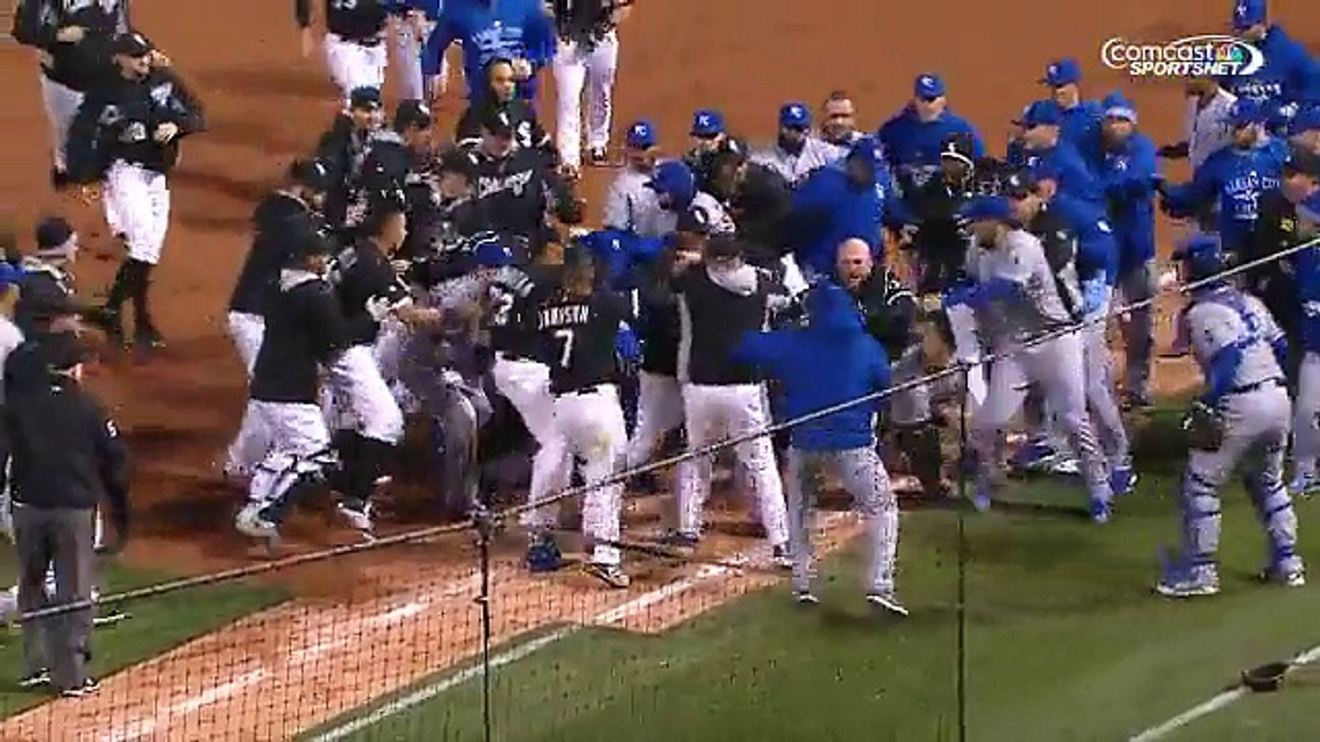 Peachy Pitcher Starts Massive Bench Clearing Brawl Between Kansas City Royals And Chicago White Sox Onthecornerstone Fun Painted Chair Ideas Images Onthecornerstoneorg