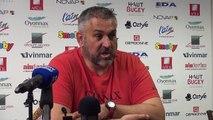 Rugby Top 14 - Christophe Urios réagit après Oyonnax - Racing Metro (2e partie)
