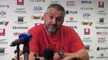 Rugby Top 14 - Christophe Urios réagit après Oyonnax - Racing-Métro 1ère partie