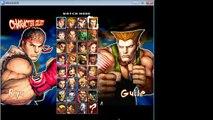 Super Street Fighter IV Mugen Gameplay Sakura VS Ryu