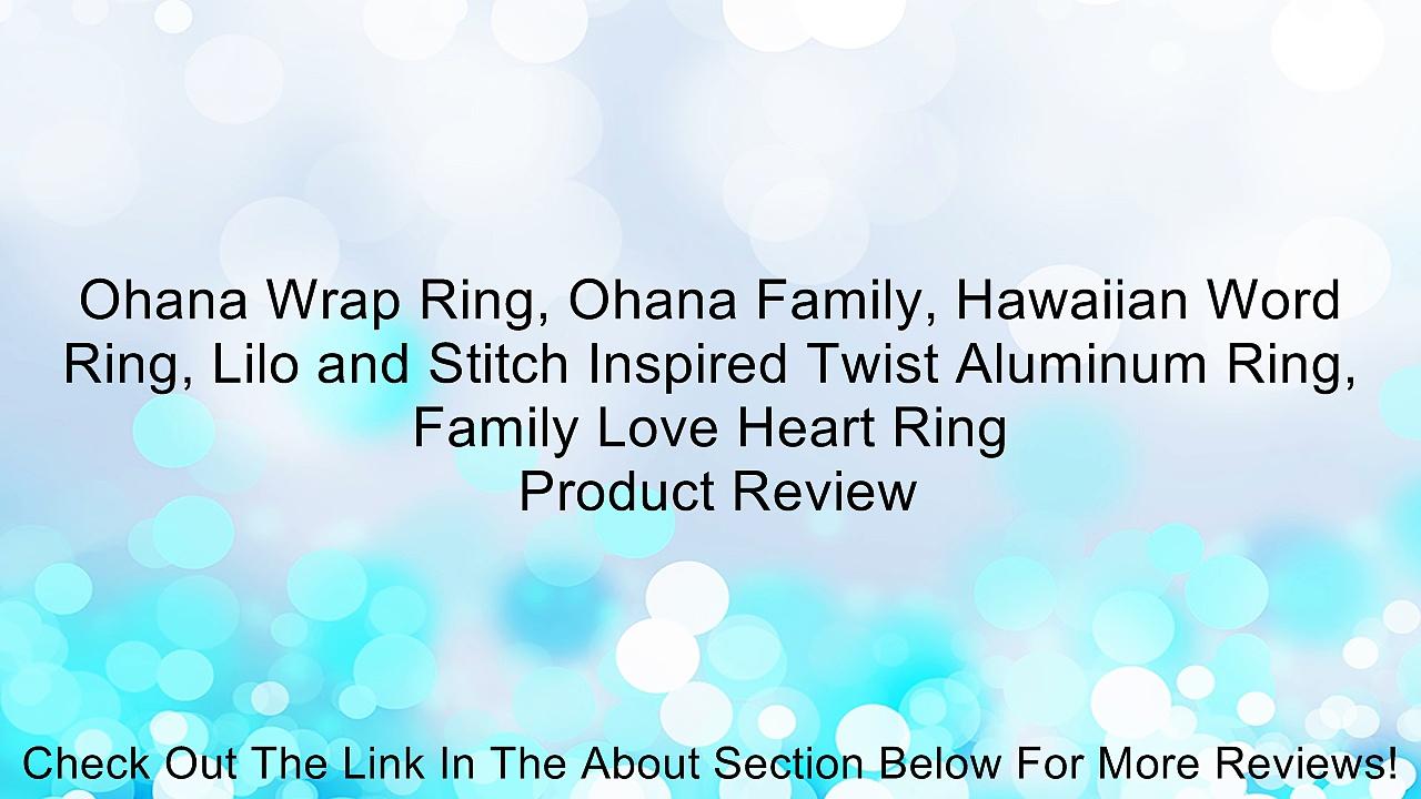 Ohana Wrap Ring, Ohana Family, Hawaiian Word Ring, Lilo and Stitch Inspired Twist Aluminum Ring, Family Love Heart Ring Review