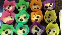 Blaubeer-Muffins / Blueberry Muffins / Heidelbeer-Muffins in Tulpen-Cups