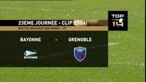 TOP14 - Bayonne - Grenoble: Essai  Martin Bustos Moyano (BAY) - J23 - Saison 2014/2015