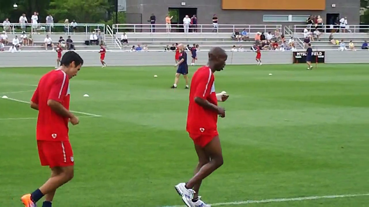 US national soccer team practice conditioning drill