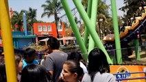 Boomerang Roller Coaster Back Seat POV Six Flags Mexico