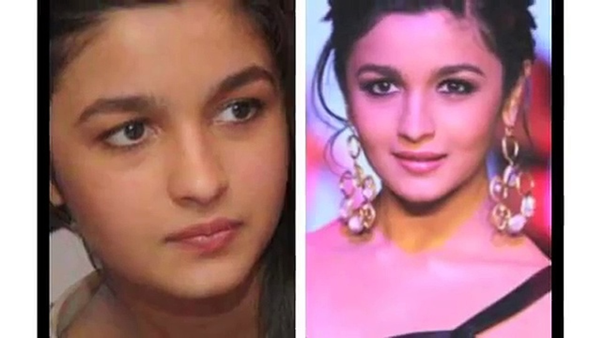 Bollywood Actresses before and after Makeup