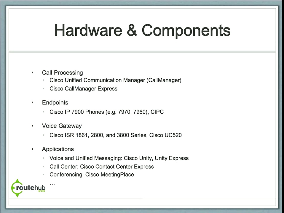 Cisco Voice & Unified Communications Overview