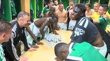 La joie des Verts après ASSE - Montpellier (1-0)