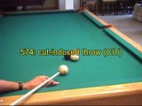 Cut-induced throw (CIT) and spin-induced throw (SIT) in pool and billiards, from VEPS IV (NV B.86)
