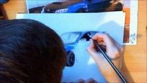 Fast and Furious 7 Pencil Speed Drawing Subaru Impreza WRX STI Step by Step Tutorial Zeichnung