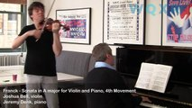 Joshua Bell and Jeremy Denk Play Franck -- Sonata in A major for Violin and Piano, 4th Movement