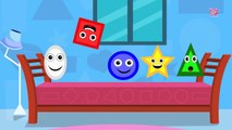 Five Little Shapes - Original Nursery Rhymes By Little Baby Club - Alphabet Songs