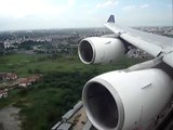 Thai Airways Airbus A340-500 Landing at BKK