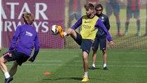 FC Barcelona training session: Last training session before Getafe