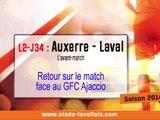 (J34) Auxerre - Laval, le point avec D. Zanko