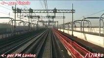Alta Velocità Bologna - Milano 1° Tratto Treno Prove Archimede (dalla cabina)