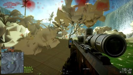 WATERFALL BASE JUMP   Battlefield 4 Jungle Map de Battlefield 4