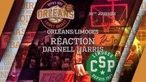 Réaction de Darnell Harris - J30 - Orléans reçoit Limoges