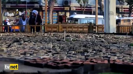 Tarihi ilçeyi 55 metrekarelik alana sığdırdı