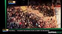 Des violences et une intervention musclée de la police lors du derby de Belgrade