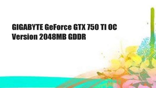 Gigabyte GTX750Ti Scheda Video 2GB, Nero